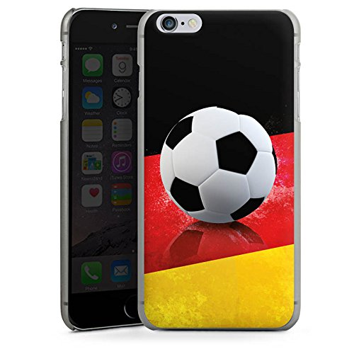 Apple iPhone X Silikon Hülle Case Schutzhülle Fussball Deutschland schwarzrotgold Hard Case anthrazit-klar