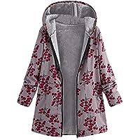 Damen Winterjacke Wintermantel Kapuzenmantel Lang Steppjacke Mantel Jacke Strickjacke Outwear Frauen Winter Vintage übergroße Hoodie Parka Trenchcoat Coat