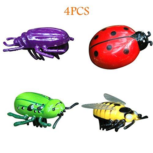 Handfly Beetle Toy für Haustier-Katzen, lustiges drehendes elektrisches bewegliches Vogel-wechselwirkendes Spielzeug (4pcs)