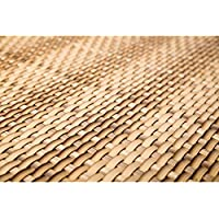 True Products Rattan Weave Artificial Garden Privacy Fencing Balcony Screening 1m x 1m - Sand