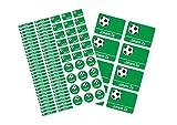 Mein Zwergenland Schulstarter-Set: Stickerbogen mit Namensaufkleber und Heftaufkleber Etiketten Sticker Aufkleber Fussball