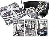 * Paris * London * New York * - Fotodruckdecke mit 3 Motiven der beliebtesten Weltstädte - hochwertige verarbeitet - ca. 150 x 200 cm, New York