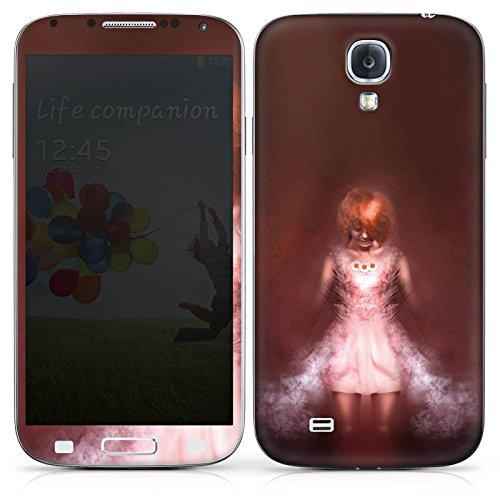Samsung Galaxy S4 Case Skin Sticker aus Vinyl-Folie Aufkleber Mädchen im Dunkeln (Halloween Costums Für Mädchen)