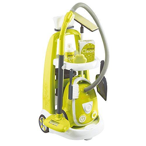 Smoby - 330301 - Chariot Ménage + Aspirateur - + 8 Accessoires Inclus