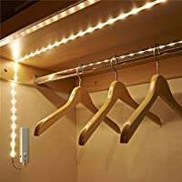 ZhongYe Wardrobe Lighting LED Strip 1M Cabinet Light Wall Light Cabinet Lighting Night Light with Motion Sensor Waterproof for Wardrobe, Wardrobe, Bedroom, Cellar, Natural Light