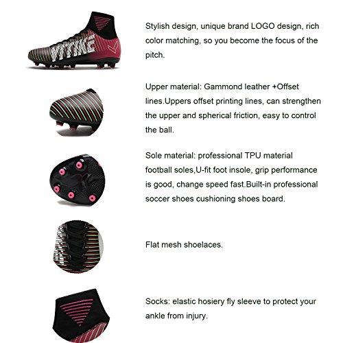 ASHION Kinder und Männer AG Fußball Stiefel Teenager Fußball Leichtathletik Training Schuhe Fußballschuhe Damen/Mädchen Violett