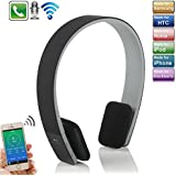 KVAGO Sport On-ear Headphone Universal Wireless Stereo AEC Bluetooth Headset Handsfree Calling Music Streaming for All Bluetooth Enabled Device Smart Phones Tablet PC Notebook (iPhone 6s, iPhone 6s Plus, iPhone 6, Samsung Galaxy S6, iPad mini 4, iPad pro, iPad Air 2, etc.) - Black