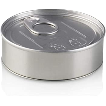 PRESSITIN Press It In Tuna Tin Cans 100ml 7g 7 gram Holds - BLACK LIDS & RX  LABELS INCLUDED - Self Hand Sealed - Smell Lock Tamper Evident Proof (20)