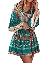 Multicolore Abbigliamento Amazon Donna it Bohemien Sn6q6T