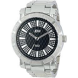"""Just Bling Herren JB-6225-B Städtische Sammlung """"562"""" Pave Dial Stainless Steel Diamond Watch"""
