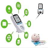 Tevigo Energiekosten-Messgerät, Stromtarif frei einstellbar, Stromverbrauch, aufspüren von...