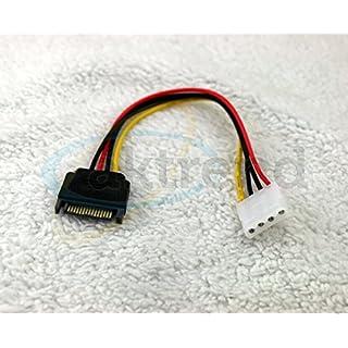 Original AKTrend® Stromadapter 4pin auf S-ATA 15pin 12cm Kabel Netzkabel intern 1 x 4 pol Stecker auf 1 x 15 pol / SATA Stecker