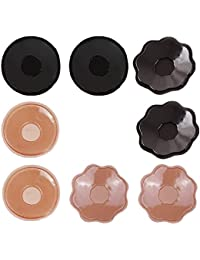 Vococal® Cache-tétons Auto-adhésif Réutilisable en Silicone Nipple Cover(4 paires)