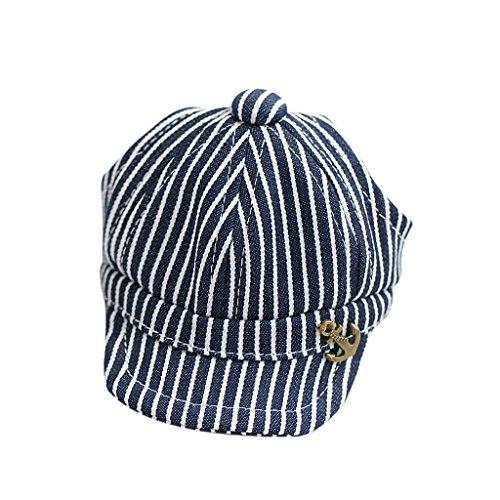 Jeans Navy Streifen Baskenmütze Sommermütze Hut Mit Ohrlöcher Für Kleinen Hund Blau M