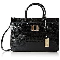 SWANKYSWANS Womens Swankyswans Croc Patent Leather Tote Black