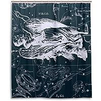 Tenda da doccia 152,4x 182,9cm, Fantasy grafico costellazione Virgo, a prova di muffa poliestere tessuto bagno tenda