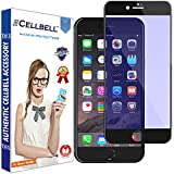CELLBELL® Tempered Glass Screen Protector For Apple IPhone 7 Plus (ANTI GLARE) (EDGE TO EDGE) (BLACK) With FREE Installation Kit