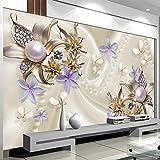 YShasaG Seidenwandbild 3D Stereo Relief Perle Diamant Schmetterling Blume Wandbild Tapete Wohnzimmer TV Sofa Hintergrund Wand Papier Romantische Decor,208cm*146cm