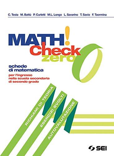 Math! check 0. Per l'ingresso nella scuola