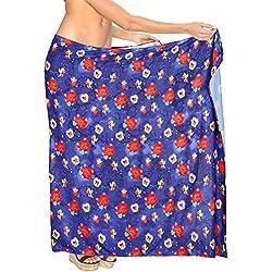 """LA LEELAFrauen Sarong Valentines Strand Bikini Tag spezielle 3D HD DRT Druck Pareo Geschenk Thema-Partei-Herz 78""""X42"""" Valentinstag Blau_Y644"""