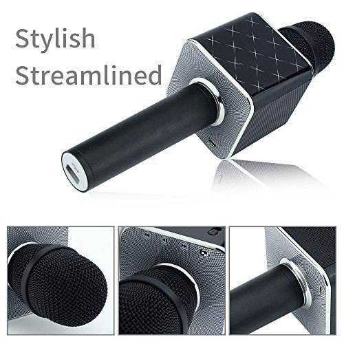 XPY&DGX Portable Wireless Handheld Microphone,Wireless Karaoke Microphone Bluetooth Speaker 2-in-1 Sing & Recording KTV Player Mini Home KTV Music Machine,Compatible with PC/iPad/iPhone/Smartphone