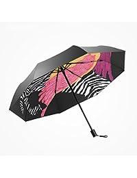 Mujer Hombre Paraguas Viaje Patrón de caballo creativo para mujer paraguas plegable para mujer Mini paraguas