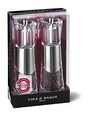 Cole & Mason Precision Bobbi 185 mm Acrylic Mill with Chrome Banding-PARENT
