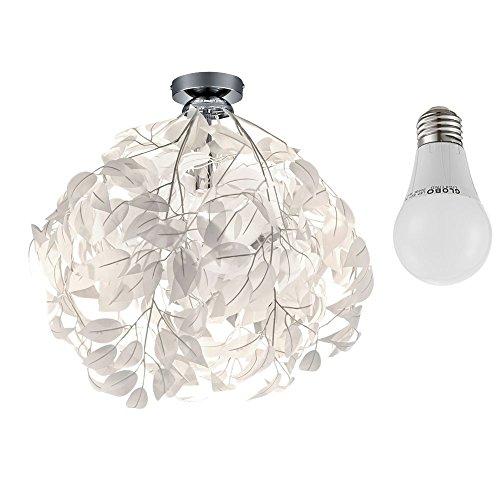 Hochwertige Decken Leuchte floral Blätter Äste Lampe im Set inklusive LED Leuchtmittel - Blatt-akzent-lampe