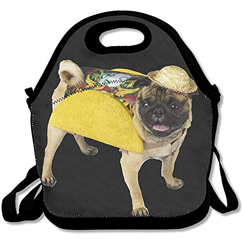 Mittagessen Tote Mops Hund Taco Kostüm-Funny Deluxe Lunch Bag by - Taco Mann Kostüm