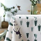 Steaean Tischdecke Stil Baumwolle Und Grünen Kleinen Baum Modernen Minimalistischen Frischen Tischdecke Tischdecke Couchtisch Tischdecke Sofa Kann Angepasst Werden, 140 * 240Cm