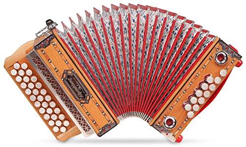 Alpenklang-Mini-Pro-Harmonika-Massiv-G-C-F-Stimmung-31-Knopftasten-11-Helikon-Bsse-inkl-Rucksack-Case