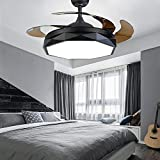 Clickkkkk Modern Chandelier Ceiling Fan LED Ceiling Light Creative Modern with Remote Control with Retractable Blade Dimmable Lighting Fan Bedroom Lamp Kids Room Living Room