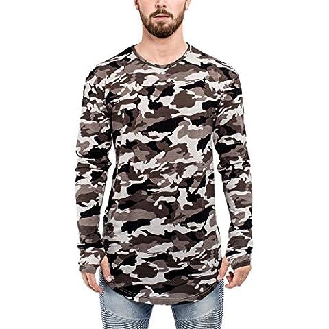 Phoenix Oversize Round Longsleeve Shirt Mens Longshirt