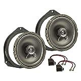 tomzz Audio ® 4039-006 Lautsprecher Einbau-Set für Opel Astra H Corsa D Corsa E Fronttür 165mm