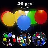 LED Ballons, Infreecs 50 Stück LED Leuchtende Luftballons Blinkendes Licht - Bunte Ballons für Hochzeits Geburtstags Party Halloween Weihnachten