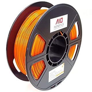 AIO Robotics AIOORANGE PLA 3D Printer Filament, 0.5 kg Spule, Durchmesser 1.75 mm, Orange
