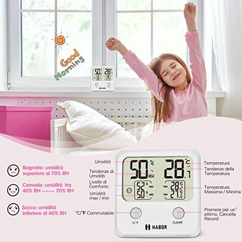 Zoom IMG-3 habor igrometro termometro digitale per