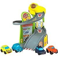Motor Town Garaje de Juguete y 4 Coches (ColorBaby 43638)