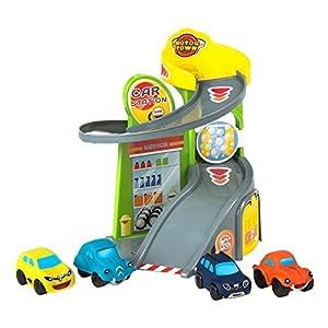 Motor Town - Garaje de juguete con 4 coches (43638)