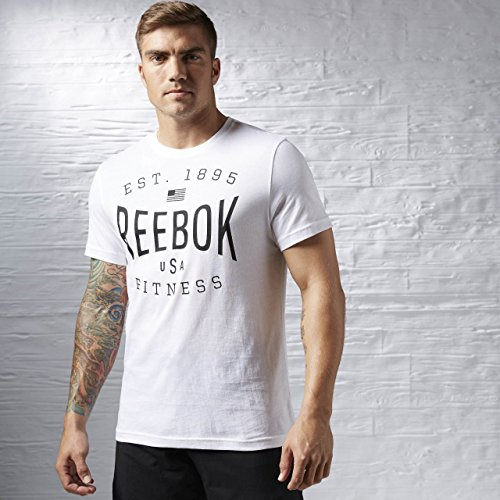 Reebok abbigliamento donna USA brand Graphic Tee, Unisex, Oberbekleidung USA Brand Graphic Tee, multicolore, S