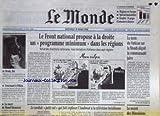 Telecharger Livres MONDE LE No 16528 du 18 03 1998 LE FRONT NATIONAL PROPOSE A LA DROITE UN PROGRAMME MINIMUM DANS LES REGIONS LE TEXTE DU VATICAN SUR LA SHOAH DECOIT LA COMUNAUTE JUIVE LE SECRET DES HENOKIENS LA MORT DE MAUD MANNON TOURNANT A PEKIN (PDF,EPUB,MOBI) gratuits en Francaise