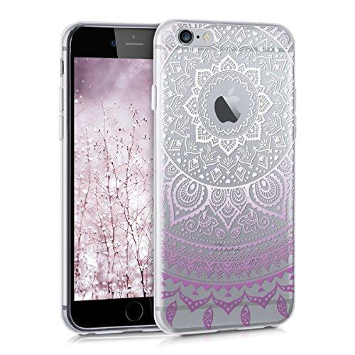 kwmobile Apple iPhone 6 / 6S Hülle - Handyhülle für Apple iPhone 6 / 6S - Handy Case in Indische Sonne Design Violett Weiß Transparent