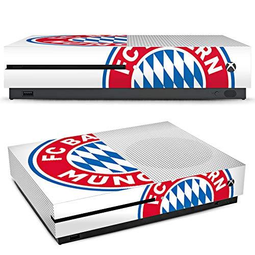 DeinDesign Microsoft Xbox One S Folie Skin Sticker aus Vinyl-Folie Aufkleber FC Bayern München Bundesliga Fußball Fanartikel Merchandise