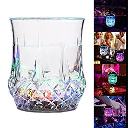 Shiny Wine Glass - LED Wine,Beer Cup Color Changing Flash Sensitive Light for Home Bar Birthday Dance Party Celebration Halloween Events By Shuban