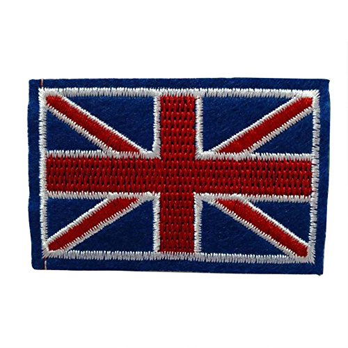 Fansi 1 Stück Fashion Applikation Kleidung Dekoration Kreative britische Flagge Muster bestickte Applikation Handarbeit Baby Kinder Mädchen Frauen Tücher DIY Kostüm ()
