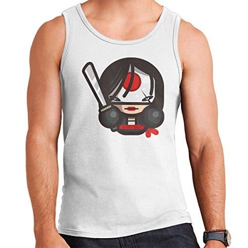 Simpler Katana Suicide Squad Men's Vest White
