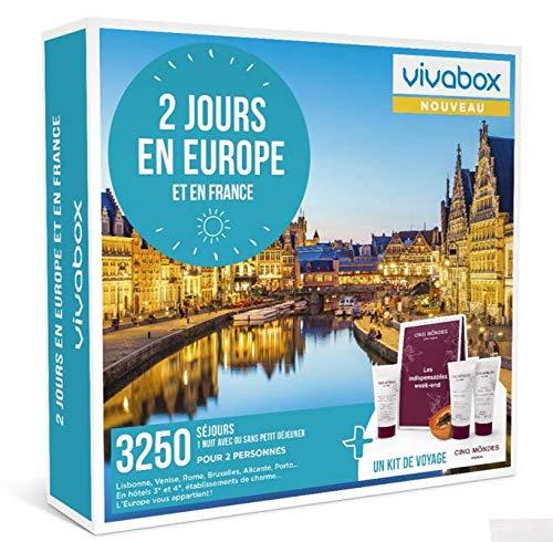 Vivabox - Coffret cadeau couple - 2 JOURS EN EUROPE - 3250 week-ends romantiques en...
