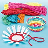 Baker Ross Basket Weaving Project - Ideal for Kids' Arts and Crafts, Small Gifts, Keepsakes and More (Pack of 4), Assorted, 10cm