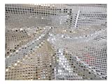 Fabrics-City % SILBER/WEIß HOCHWERTIG PAILETTEN STOFF PAILLETTENSTOFF 6MM STOFFE, 2426