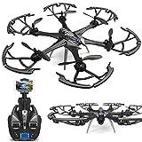 HCYING Drone, Grand 4CH 6-Axis Professionnel WiFi FPV WiFi caméra HD Drone à Distance, caméra 5MP jusqu'à 200M, Mode sans tête/Retour à Un Bouton/Mode Fixe/Follow me